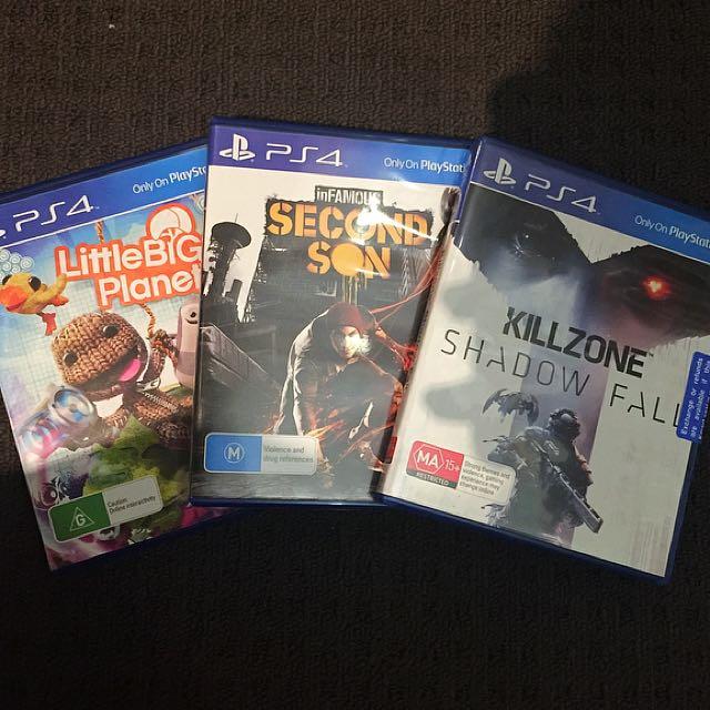 PS 4 GAMES x3