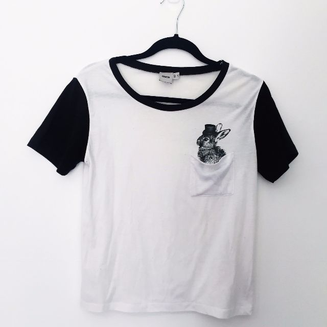 Rabbit Pocket Baseball Tshirt