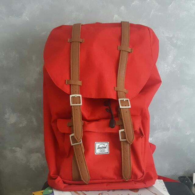 Red Hershel backpack