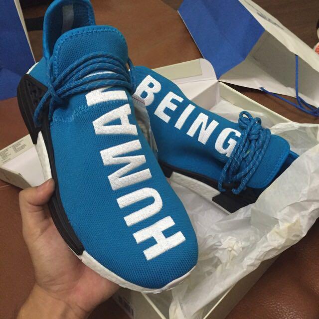 premium selection e9813 3b0f5 REDUCED (LOCAL PAIR) Nmd Pharrell Williams Human Race BLUE