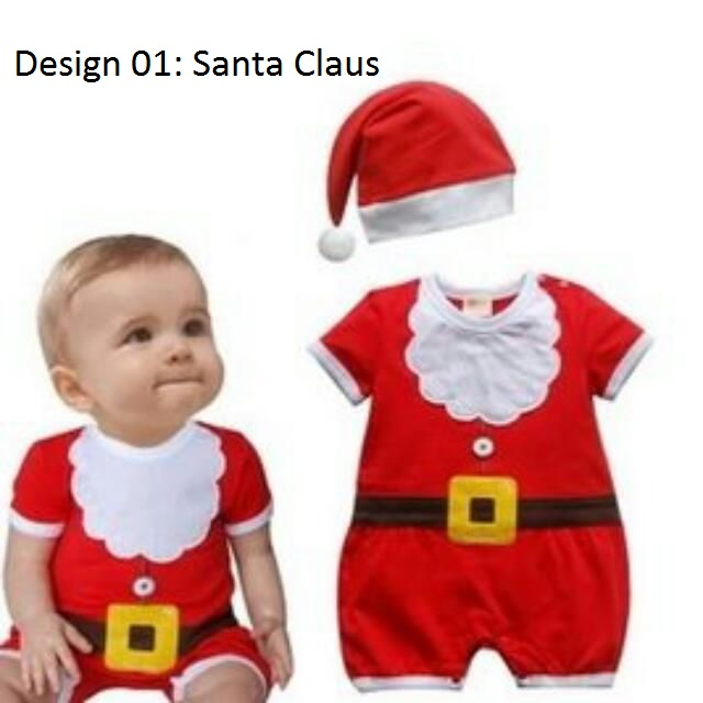 6dd4c100725c Super Cute Santa Claus Christmas Xmas Day Party Costume Outfit ...