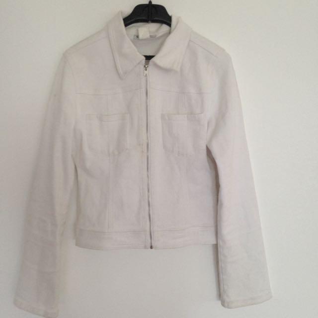 Supre White Denim Jacket