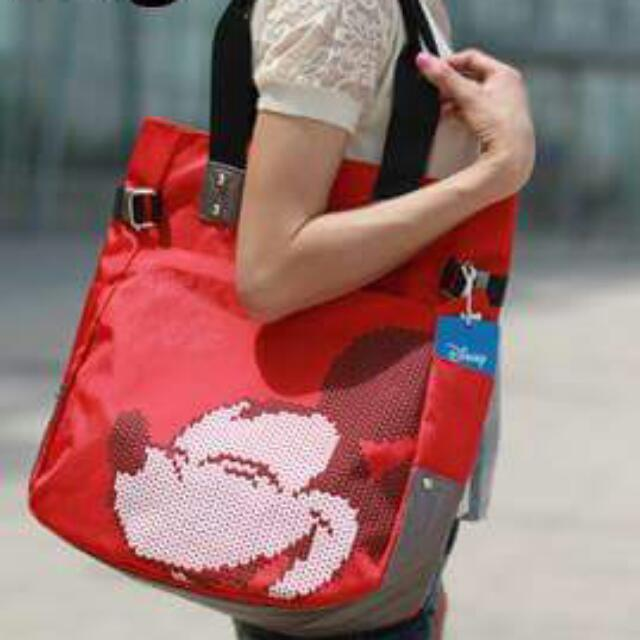 Tas Mickey Mouse Merah Import China