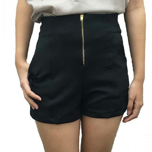Zipper Short Black, Maroon And Navy