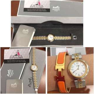 100% Authentic Hermes 2-tone watch😍