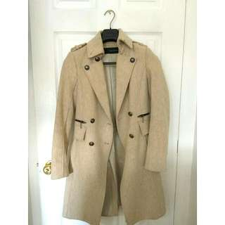 ZARA Basic Wool Trench Coat