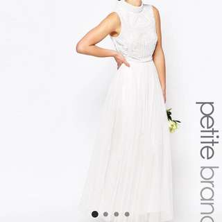 Reduced ASOS Petite Brands White Wedding Gown