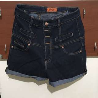 Celana Pendek Denim High Waist, Size 29