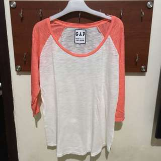 Gap Original, Baseball T-Shirt, Lingkar Dada Up To 100