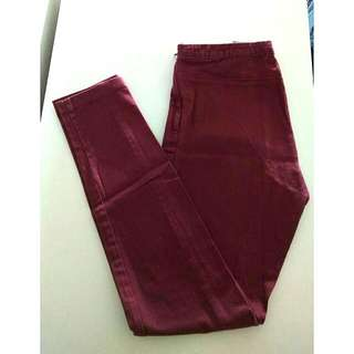 H&M Burgundy Jeggings