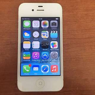 Apple iPhone 4S 16GB -NEGOTIABLE! White With USB