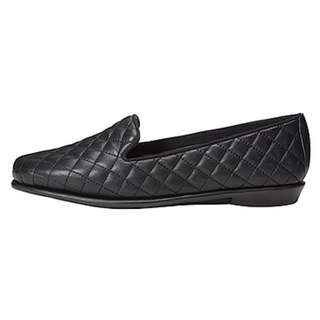 Aerosoles Quilted Black Flats