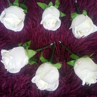 White Artificial Buttonholes
