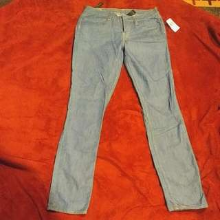 Buffalo By David Button Blue Jean With Gold Stiched Detailing And Embroidery Size 29