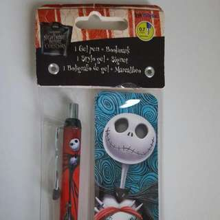 The nightmare before Christmas Gel pen and bookmark
