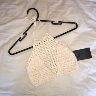 Cream Knitted Halter