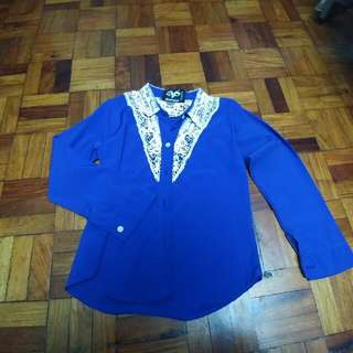 [REPRICED]Blue Blouse