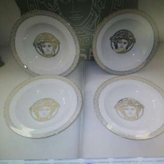 Versace Medusa Plates  Set Of 4