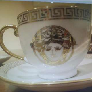 Versace Medusa Tea Cup Saucer SET OF 4 New