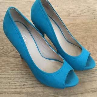 Aqua Blue Heels Size 37