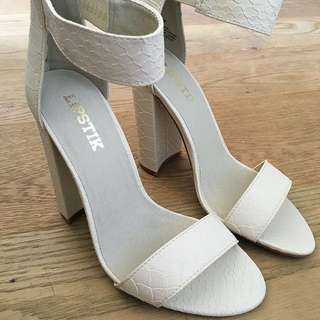Brand New Lipstik Heels Ivory