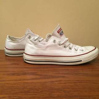 White Converse All Star Low