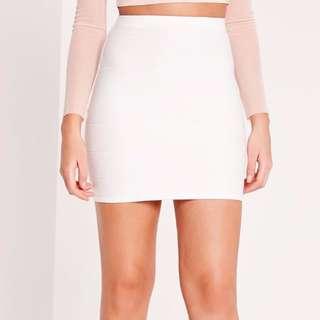 New White Bandage Mini Skirt Misguided