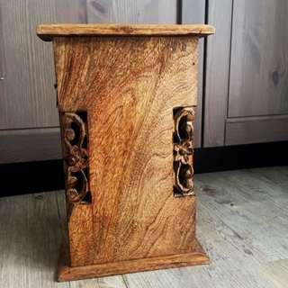 印度手製木掛牆匙箱 Wooden Key Box