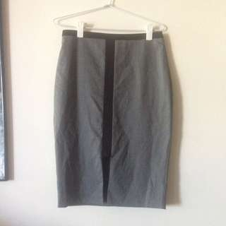 Portmans Office Work Pencil Grey Professional Skirt