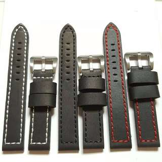 24mm Genuine Calf Leather Watch Strap (NEW)