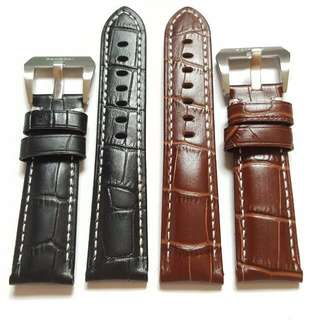 [Re-stock] Crocodile Grain Real Leather Watch Strap 22 / 24 / 26mm (NEW)
