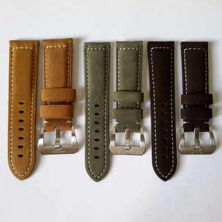 [Sales] Matte Genuine Calf Leather Watch Strap (22, 24mm)