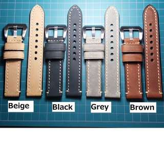 Crazy Horse Calf Matte Leather Watch Strap (NEW) - 20 / 22 / 24mm