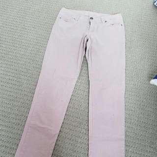 Pale Maroon Skinny Jeans