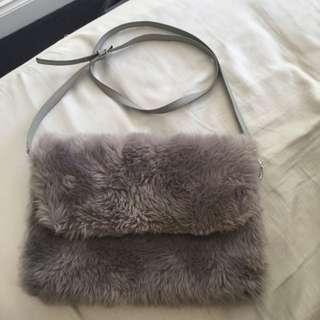 """Gorman """"faux Pas Clutch"""" Grey Bag"""