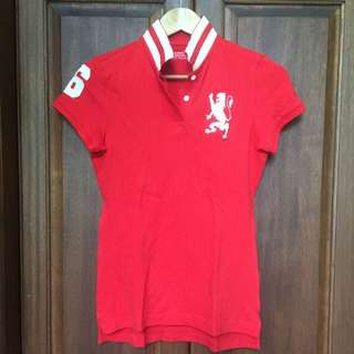 Authentic Giordano Red Polo