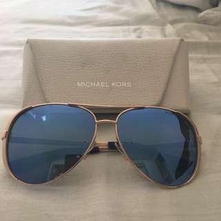 Michael Kors MK5004 Blue Flash Lens Polarised Sunglasses