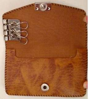 Leather Card & Key Holder