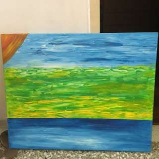 HAND PAINTED Abstract Art Canvas Painting