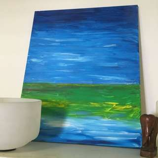 HAND PAINTED Canvas Painting By Local Artist