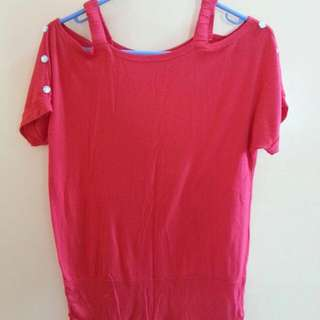 Red Glam Blouse