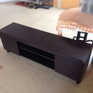 Elegant Dark Wood Console