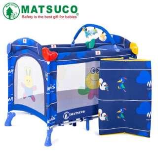 遊戲床(附蚊帳、拉環、玩具架、床墊、收納袋)
