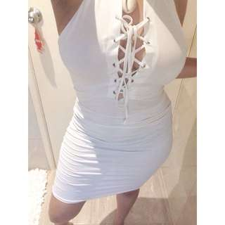 White Criss Cross Dress