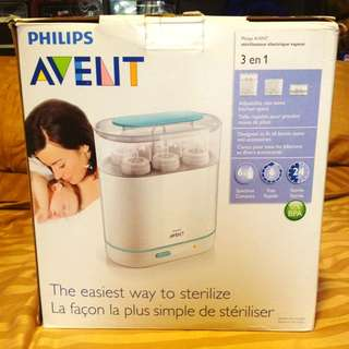 Philips Avent Electronic Sterilizer With Spinning Dry Rack