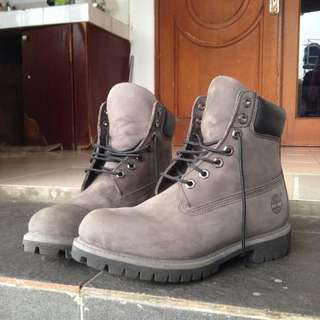 """TIMBERLAND MEN'S 6"""" PREMIUM GREY LEATHER BOOT 6609A"""