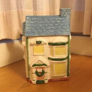 🚚 洋房造型陶瓷置物盒