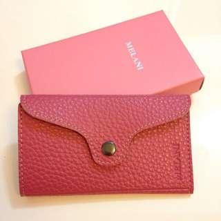 Melani粉紅真皮匙包
