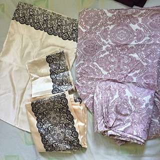 Beautiful Satin Duvet Quilt Covers 2 Sets