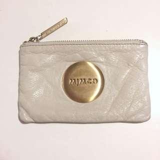 Mimco Cream Leather Pouch